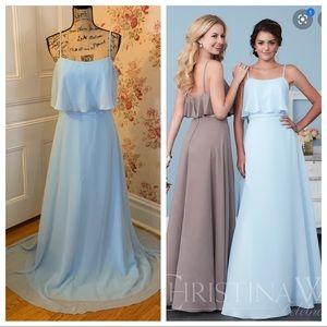 Christina Wu Cinderella Blue Formal Dress